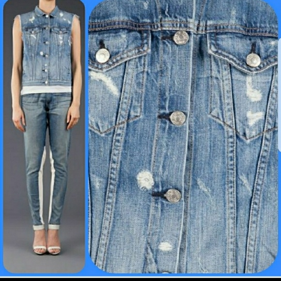 dd13f8e7b22 rag & bone Jackets & Coats | Rag Bone Tattered Denim Jean Vest ...